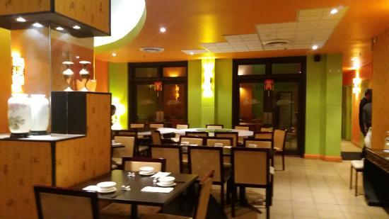 Inside of asian cafe