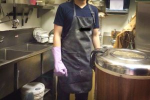 A student dishwasher