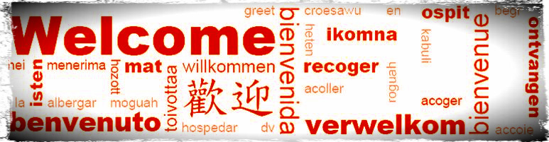 The many different ways to say welcome in various different languages. This is inside the International Center at the University of Louisville. It is a widely used poster through different universities, and meant to help foreign students understand even with one word as well as making them feel a little more at home.