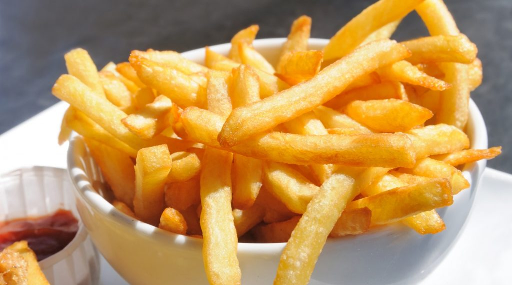 deliciuos and crispy fries serving