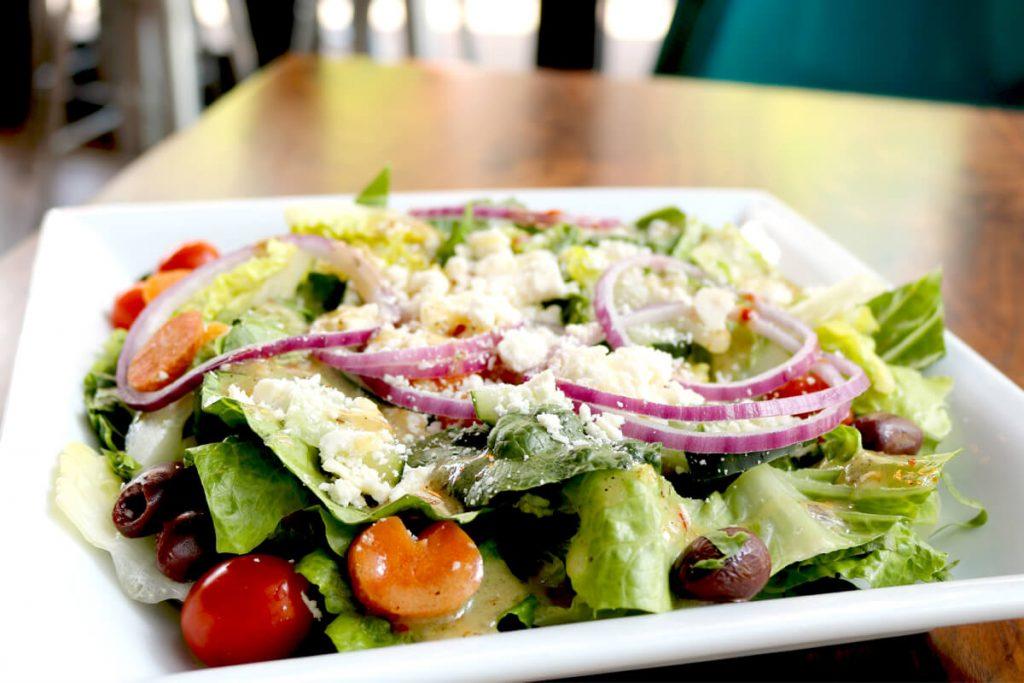 Fresh salad in dish