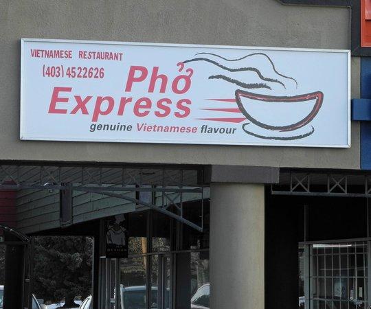 entrance of pho express