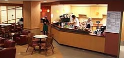 The University Grounds Coffee Shop offers meal plans for students.
