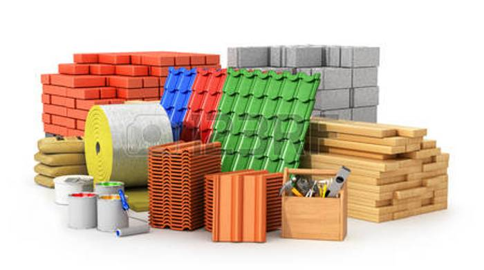 an array of different building materials