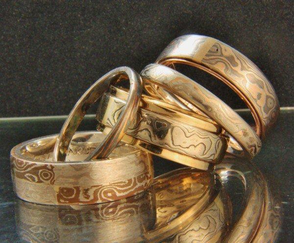 a stack of metal rings