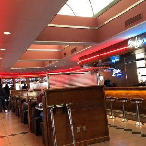Inside the Drake Diner restaurant