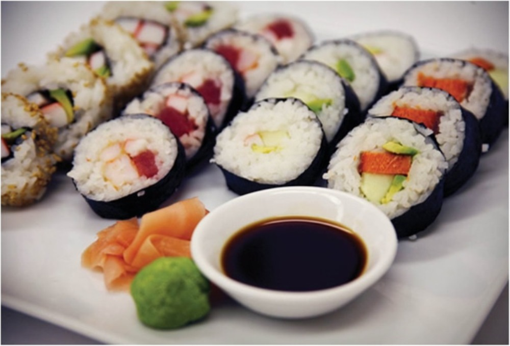 picture of sushi rolls