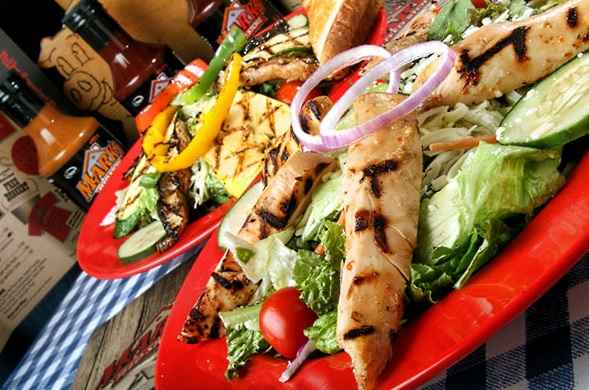 Grilled Chicken Finger Salads at the Mark's Feed Store