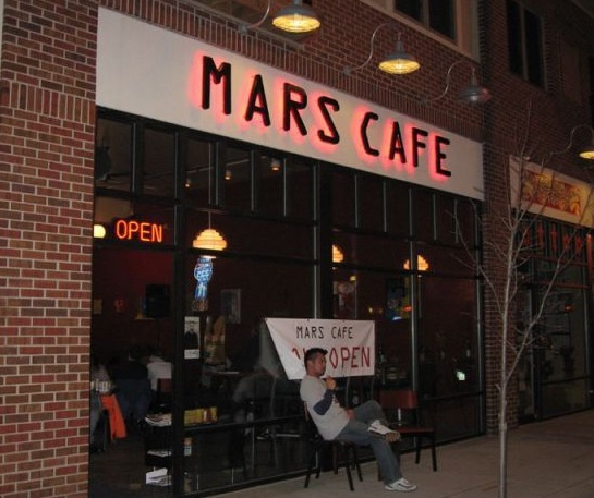Mars Cafe is an ideal drinking joint