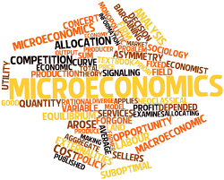 Word cloud about microeconomics