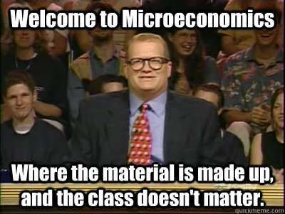 Funny picture of the Principles of Microeconomics