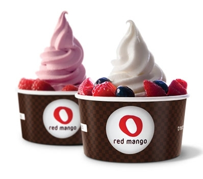 Frozen yogurt by Red Mango