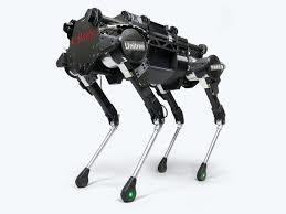 A picture of a dog robot