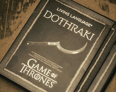 Picture of Game of Thrones book of languages