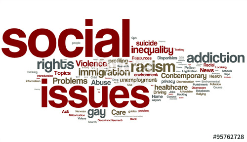 Word cloud about social issues