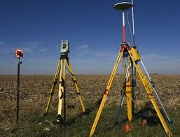 Surveying equipments in the field