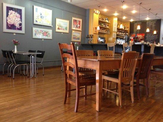 The interior of Tru Café