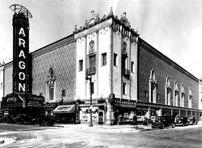 Old black and white picture of theatre