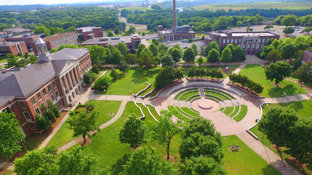 The aerial view of Tennessee State University