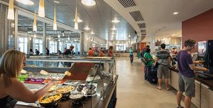 This is one of the dining halls here