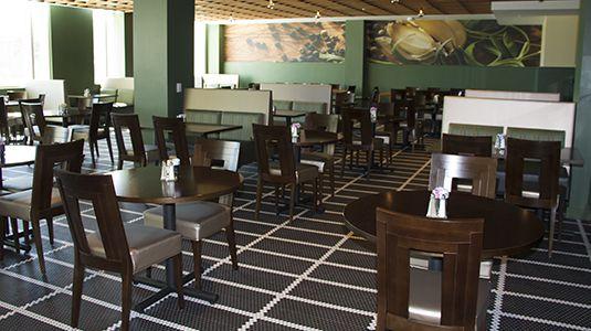 Simple but elegant interior at the Avesta Restaurant.