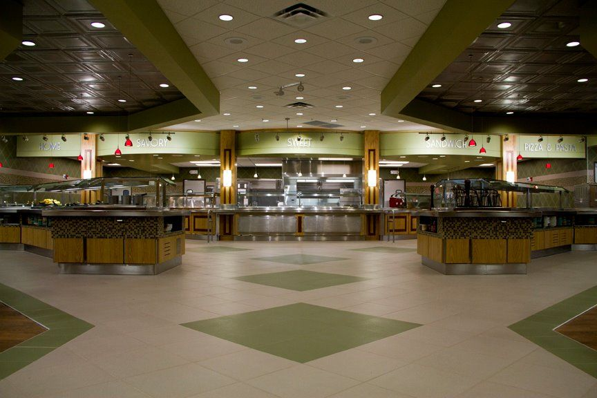 The spacious Bruce Cafeteria after the remodel in 2012.