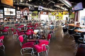 The inside of the Fox River Restaurant and Brewery restaurant