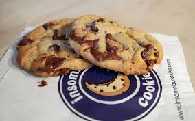 This shows both the product and the logo of Insomnia Cookies.