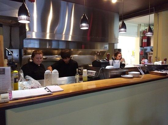 Chefs working at Canggio Restaurant
