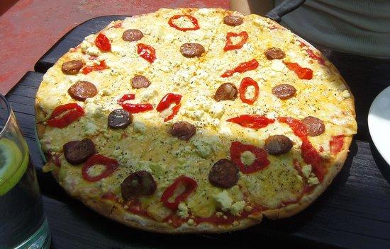 Pizza at Jamaican Me Crazy