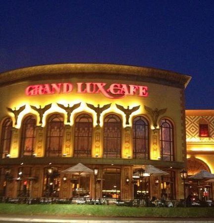 outside of the grand lux