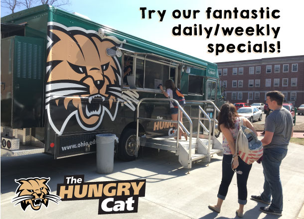 The Hungry cat food truck picture of students waiting in line