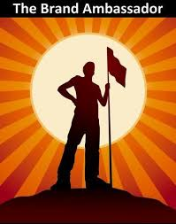 This image shows a clipart picture of a man holding a flag and representing himself as the ambassador!