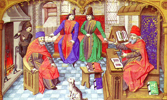 a painting of the representation of the middle ages