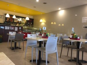 This is inside the Cafe Veloci