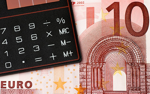 Image showing calculator and currency