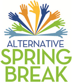 This image is used to promote Alternative Spring Break around campus.