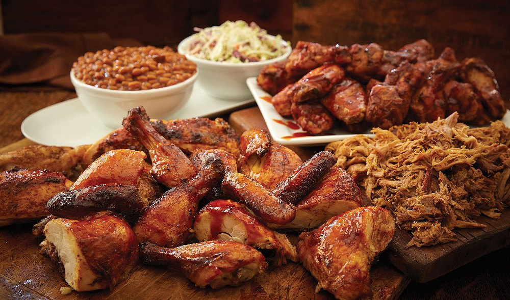 picture of bbq wings and other grilled foods