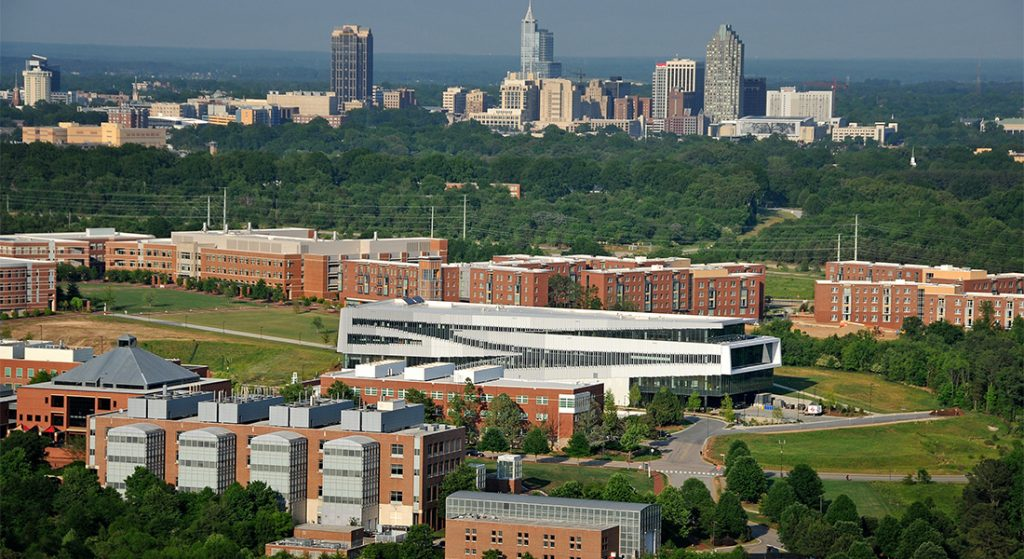 NC State University overview of campus.