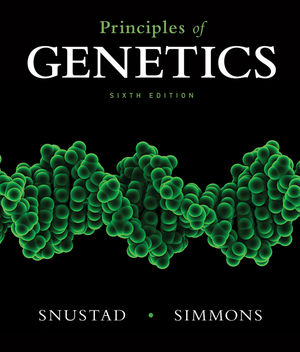 "A Textbook cover written ""Principles of Genetics?"""