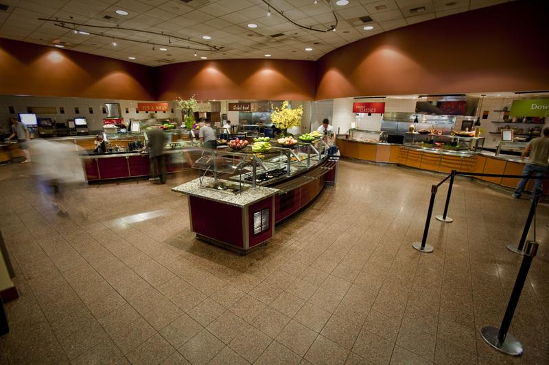 The inside of the dining hall