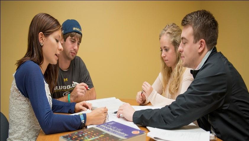 Students undergoing training