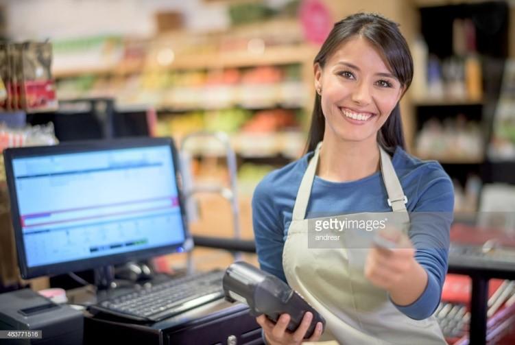 A part-time cashier
