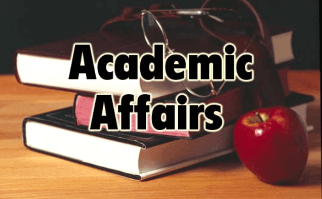"""A simple design displaying """"Academic Affairs"""""""