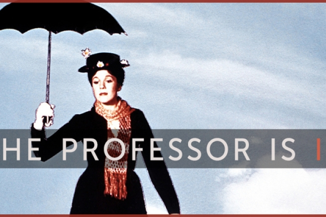 """Graphics showing a woman with """"Professor"""" written on her image"""