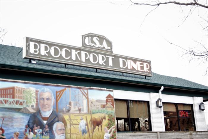 An image of Brockport Diner's building