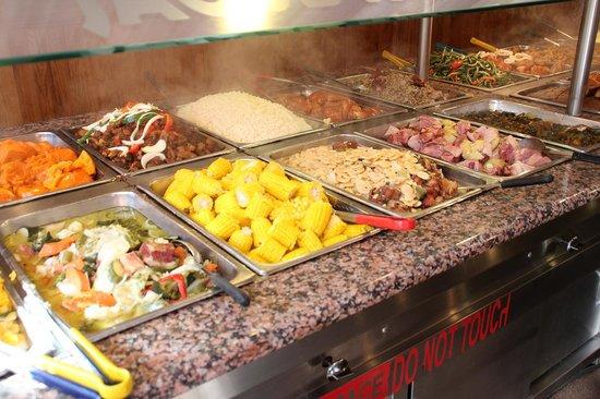 Varieties of foods at Admiral Spa
