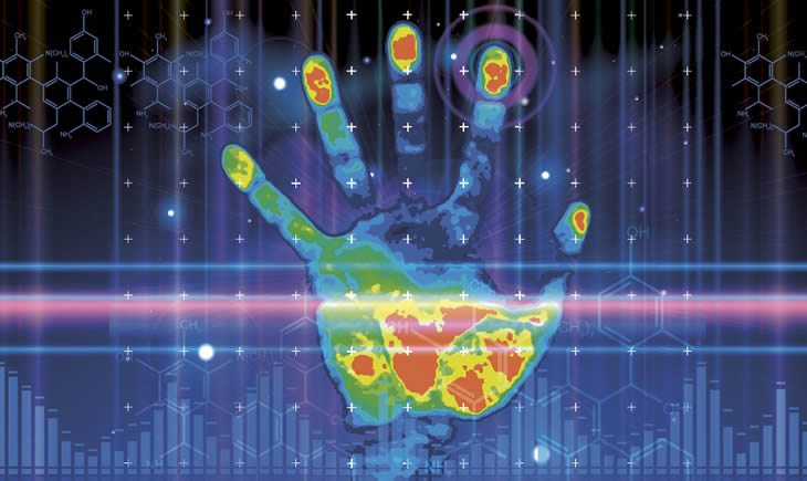 This is an image of Forensic Science, represented by a handprint