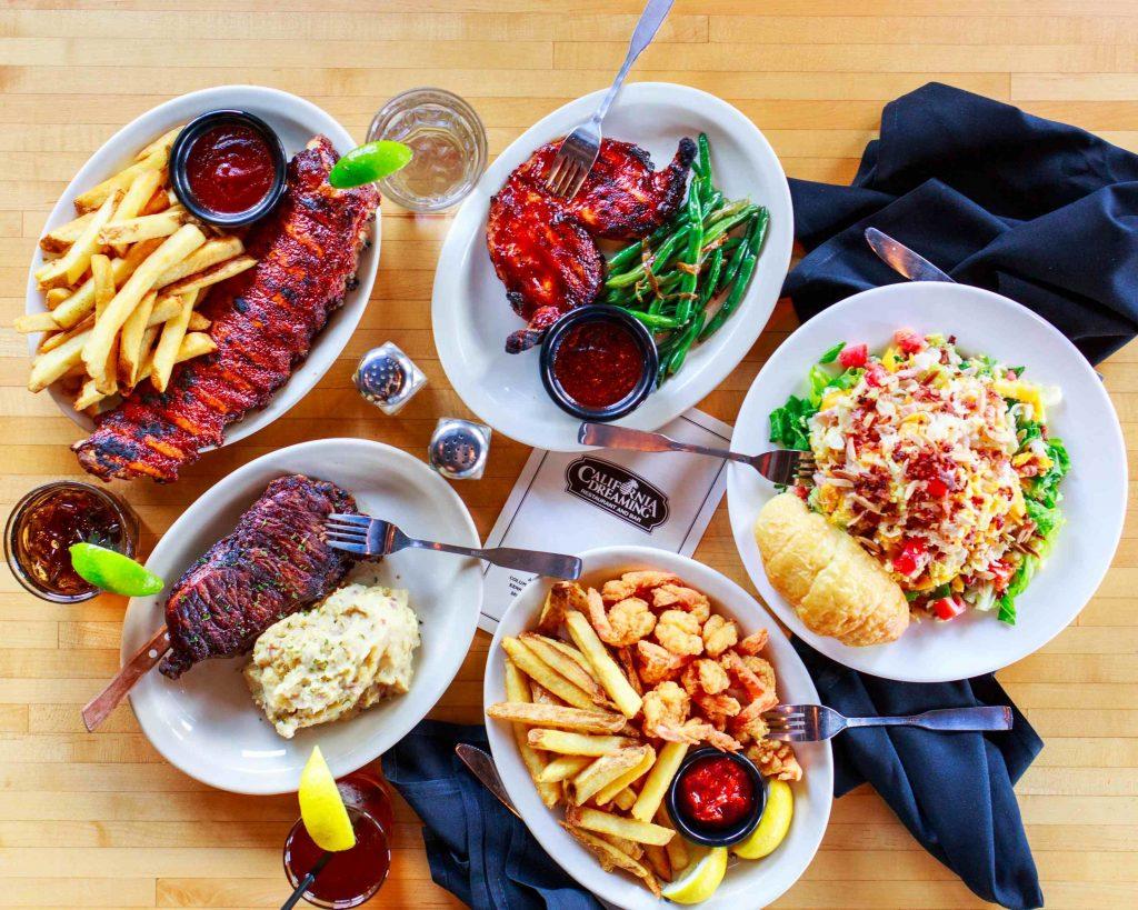 An image of California Dreaming Restaurant & Bar food
