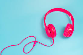 Music can be heard through headphones